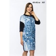 Велюровый халат M5